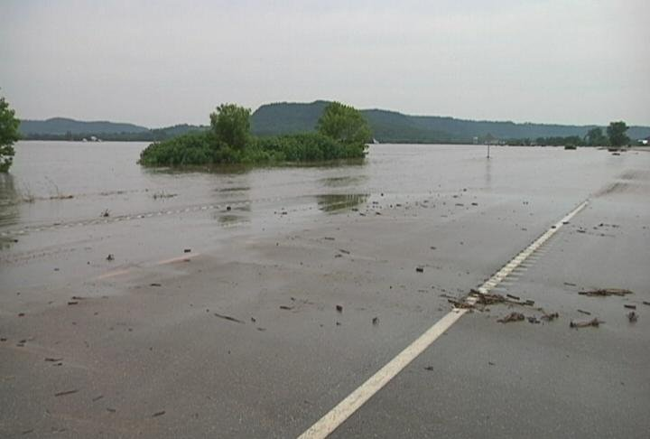 Water flooding over roads is particularly dangerous because it's hard to see whether the road exists beneath water