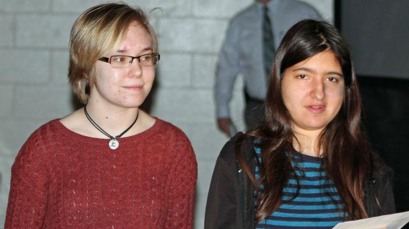 Annika Dome, left, Lily Janezich.