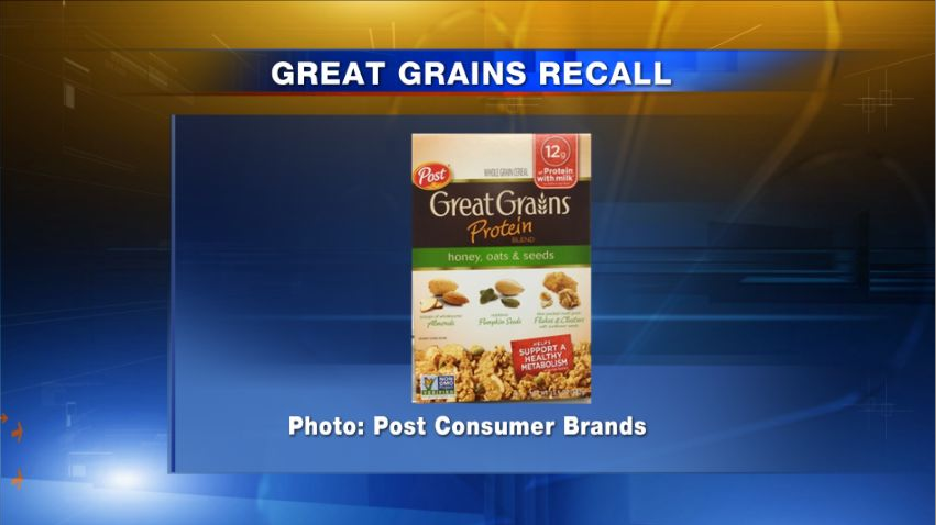 Post Great Grains cereal, Kashi, Go-Lean and Bear Naked recall