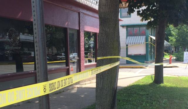 Scene from July 2016 outside EB's Corner Bar