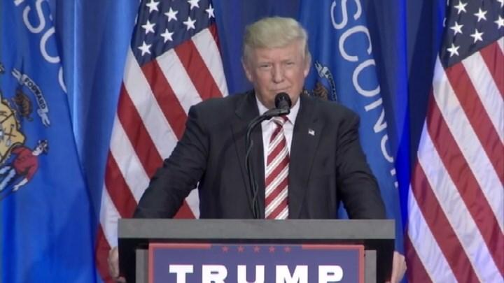 Donald Trump speaking in Wisconsin in August, 2016.