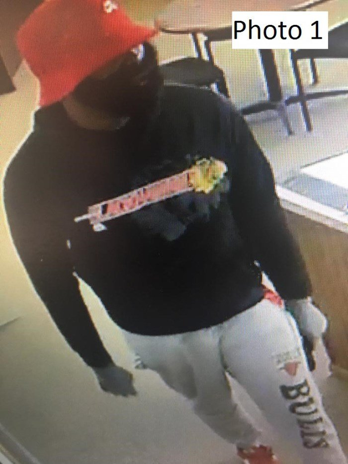 Photo taken at Wisconsin Auto Title Loans of the armed robbery suspect. Courtesy LCPD