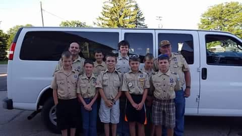 Harvey Geary with Troop 75 from Viroqua last summer at the Boy Scouts Summit in West Virginia. Photos courtesy Virginia Necollins