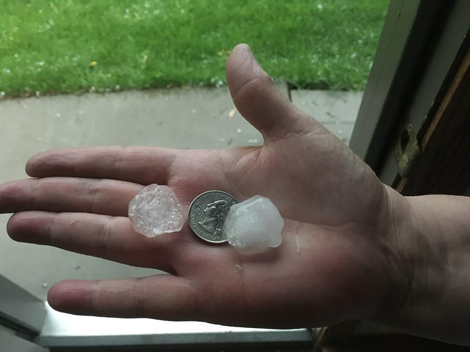 Hail from Joel Klenke in Holmen