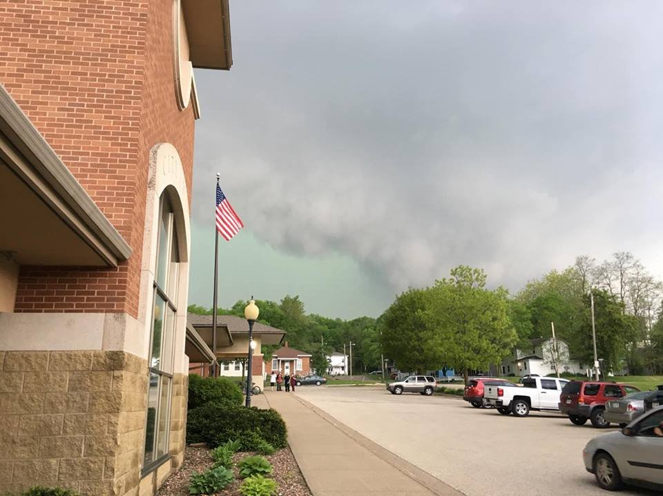 Photo from City Hall in Black River Falls Wednesday afternoon. Brad Chown photo.