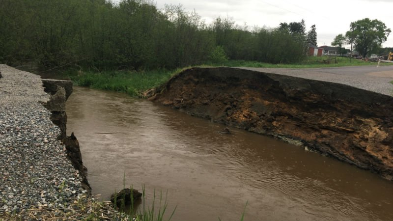 Hixton Levis Rd. in the Town of Garden Valley in Jackson County. Photo courtesy Jackson Co. Emergency Management