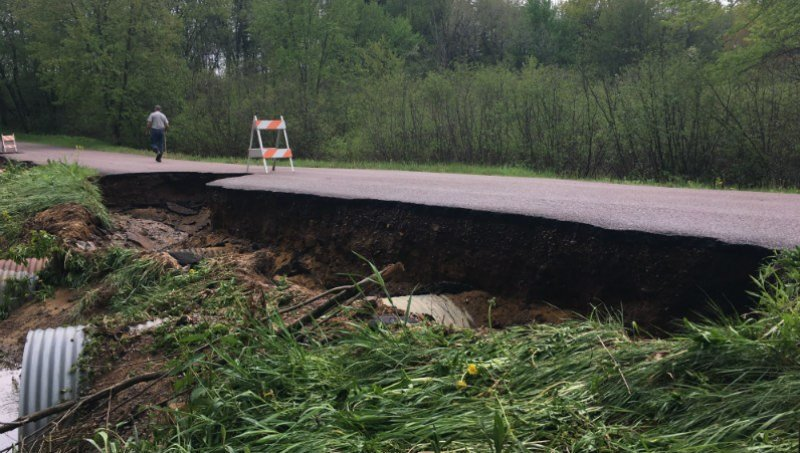 Moore Rd. in the Town of Garden Valley in Jackson County. Photo courtesy Jackson Co. Emergency Management