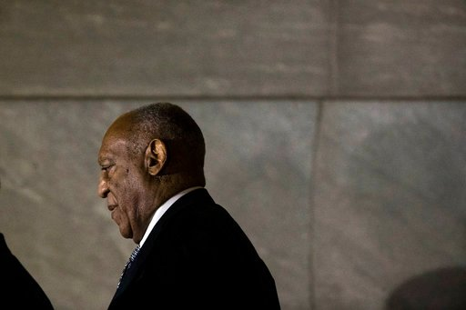 (AP Photo/Matt Rourke). Bill Cosby walks from the Montgomery County Courthouse during his sexual assault trial in Norristown, Pa., Friday, June 16, 2017.