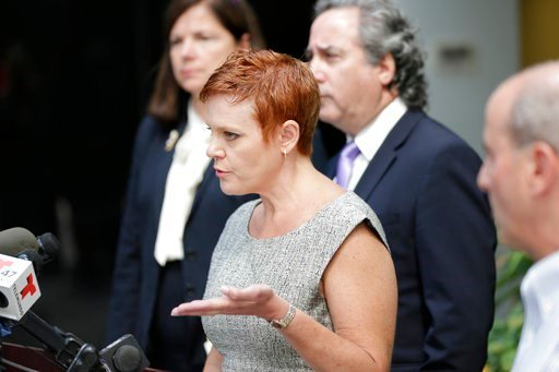 (AP Photo/Seth Wenig). Dianne Grossman, mother of Mallory Grossman, speaks to reporters during a news conference in Roseland, N.J., Tuesday, Aug. 1, 2017.