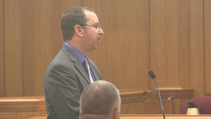 District Attorney Tim Gruenke during opening arguments