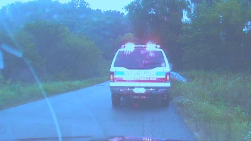Video frame from the dashcam video from Officer Lance Loeffelholz of the West Salem PD taken on Sept. 16, 2016.