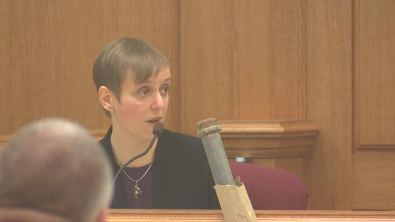 Dr. Kathleen McCubbin testifies about the autopsy she performed on Barbara Kendhammer.