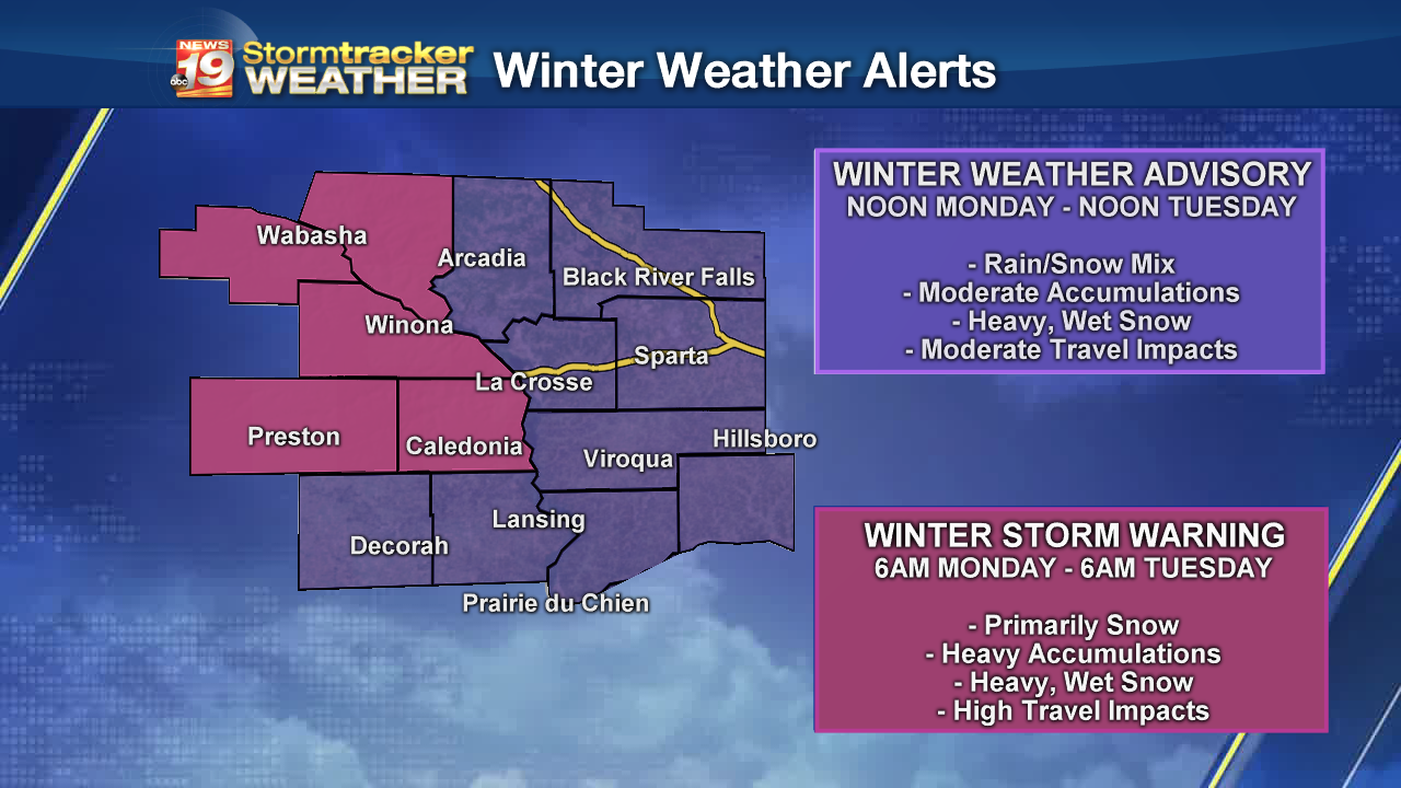 Winter Storm Watch issued as wintry one-two punch approaches