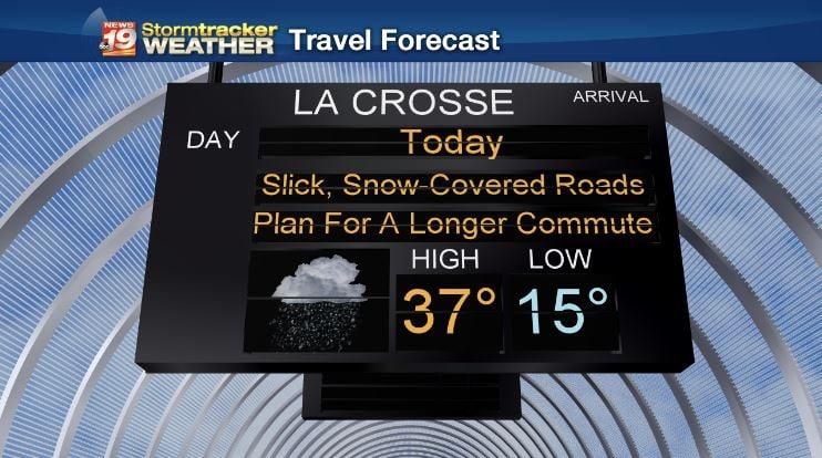 Hazardous travel today - especially in the morning