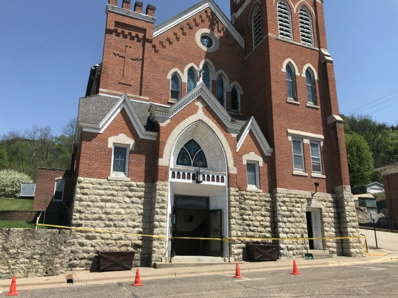 A fire Wednesday morning at St. Mary's Immaculate Conception Catholic Church left smoke damage throughout the building.