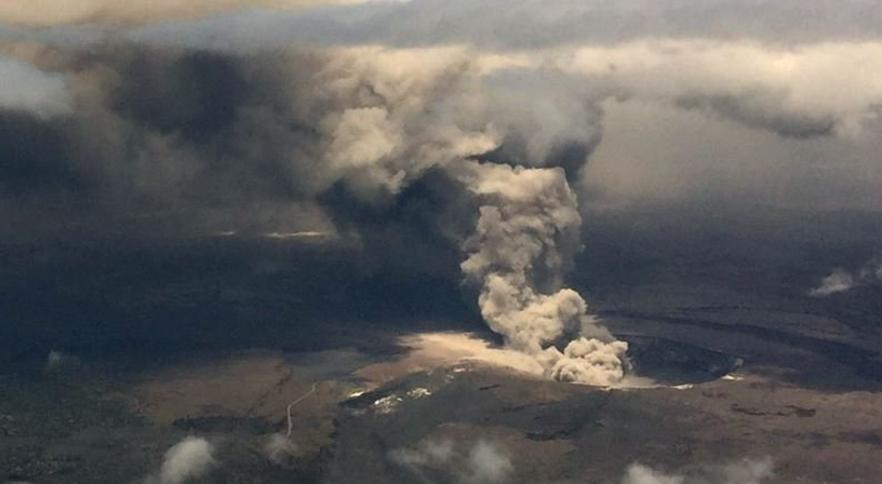 Explosive eruption rocks Hawaii's Kilauea volcano summit