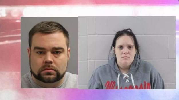 Shawn Harris Goplen, left, and Kari Lynn Blank, right, are wanted in connection with the shooting.
