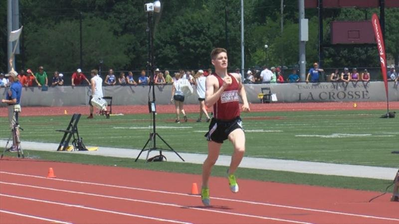 Jett Mickelson of Central in the 800 meters