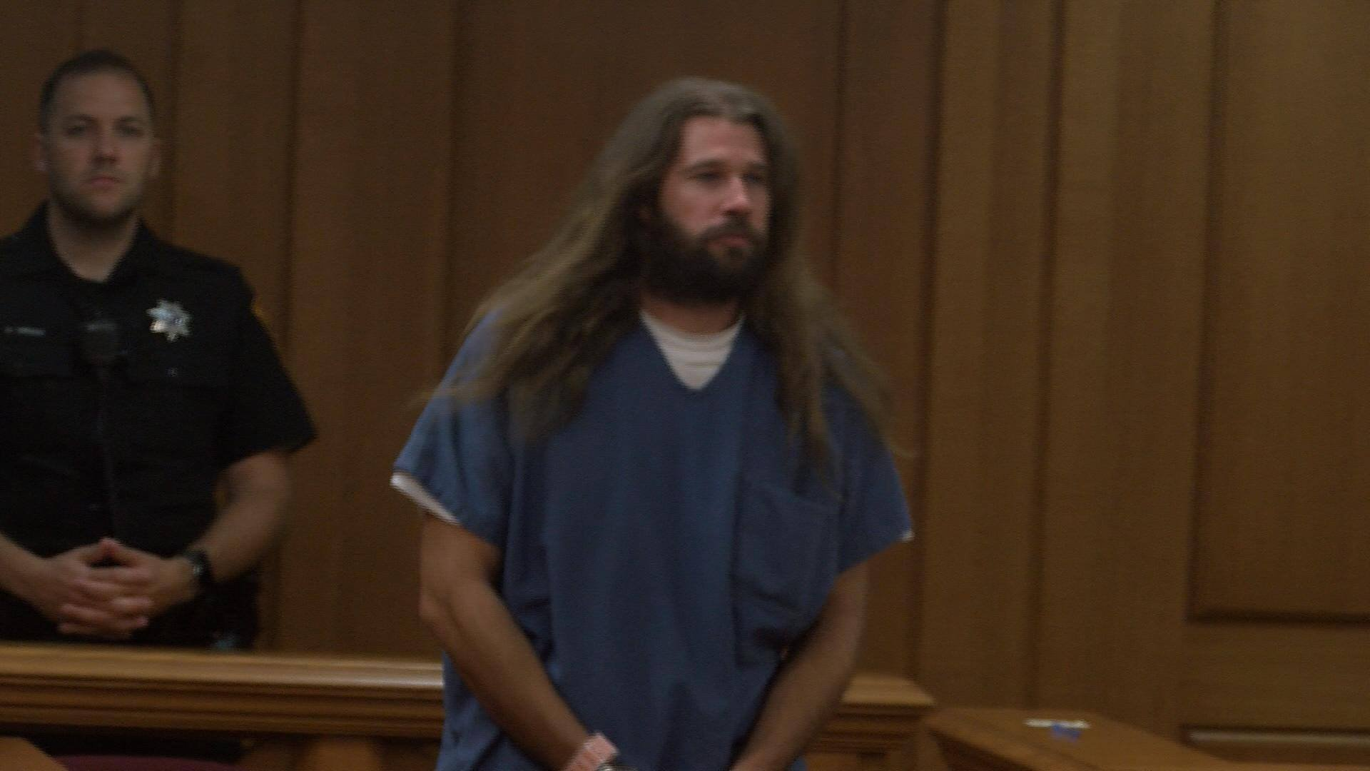Erik Sackett makes his first appearance in La Crosse County Circuit Court on a homicide charge in the death of Erin Somvilai. Bond was set at $1 million by Judge Ramona Gonzalez.