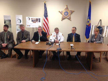 Vernon Co. Sheriff John Spears, members of the department, and Dept. of Justice officials
