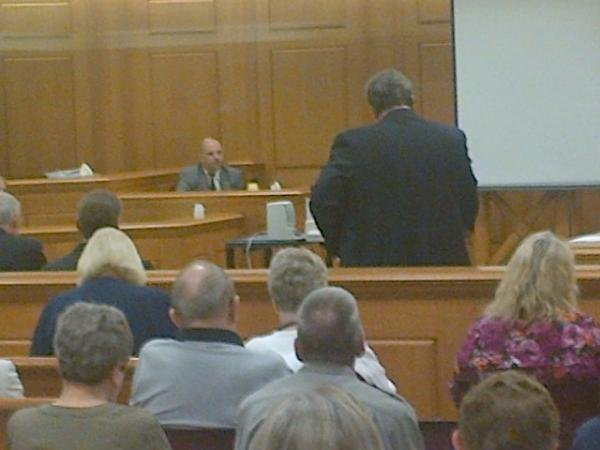Robert Morton, FBI, on the stand Friday morning.