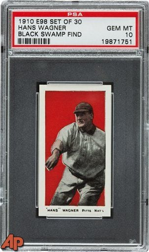 "A Honus Wagner card graded at ""10""-or in perfect condition."