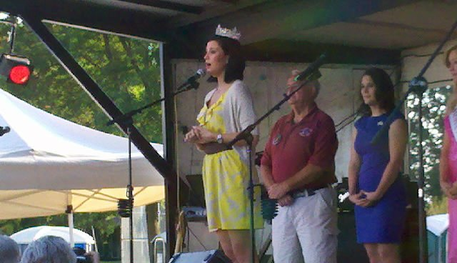 Miss America speaks at the opening of Legion DAys