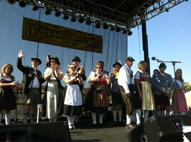 Oktoberfest royalty getting ready just before the opening ceremonies