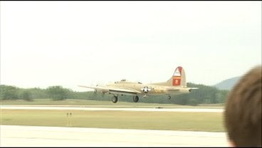 B-17 similar to the one Lawrence Huschle flew in when he was shot down.