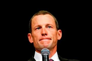 AP Photo - Lance Armstrong speaking at a Livestrong event in Dublin, Ireland, August, 2009