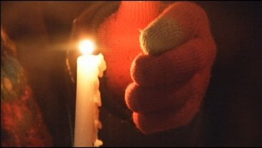 A candlelight vigil held outside Winona City Hall to protest the frac sand industry.
