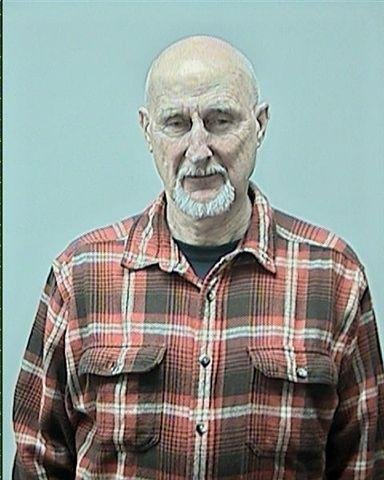 Mug shot of Oscar-nominated actor James Cromwell after his arrest in Madison