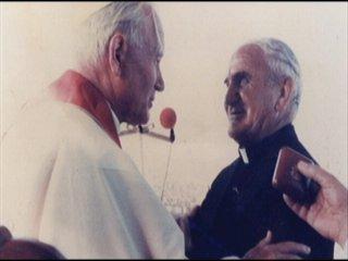 Father Joe meets Pope John Paul II