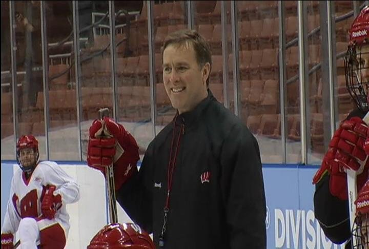 Wisconsin Hockey Coach Dave Eaves