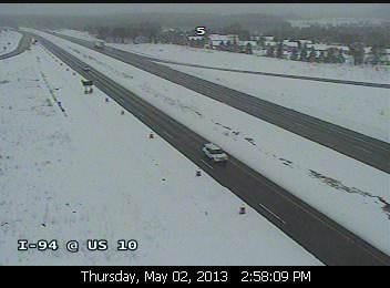 Traffic camera facing I-94 at Osseo in Trempealeau County