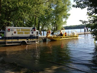 La Crosse Dive Unit boat joining in search for missing boater
