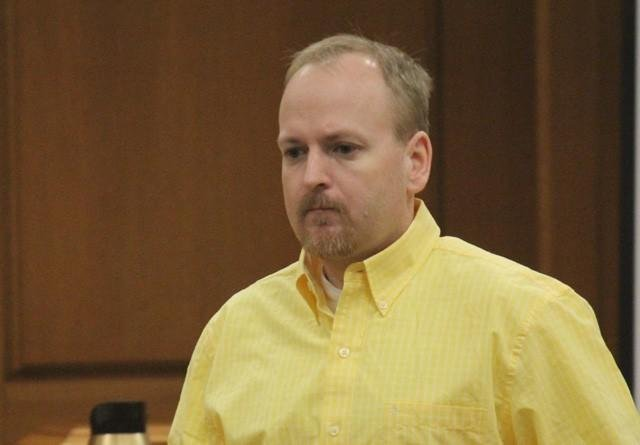 Jeffrey Lepsch enters the courtroom for day two of his trial.