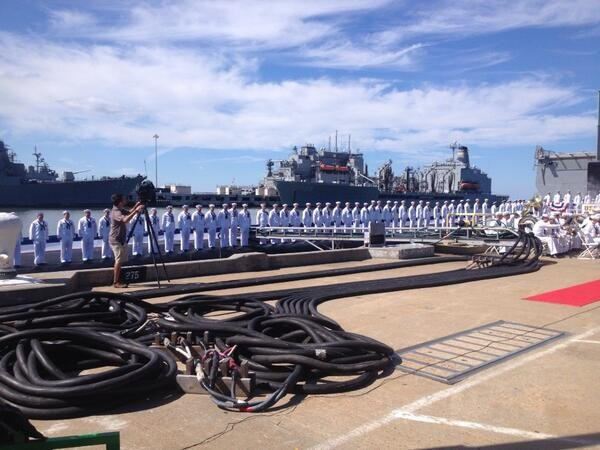 Commissioning ceremony at Naval Station Norfolk (Photo by Carrie Ruud)