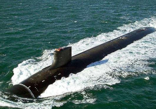 USS Minnesota during its sea trials