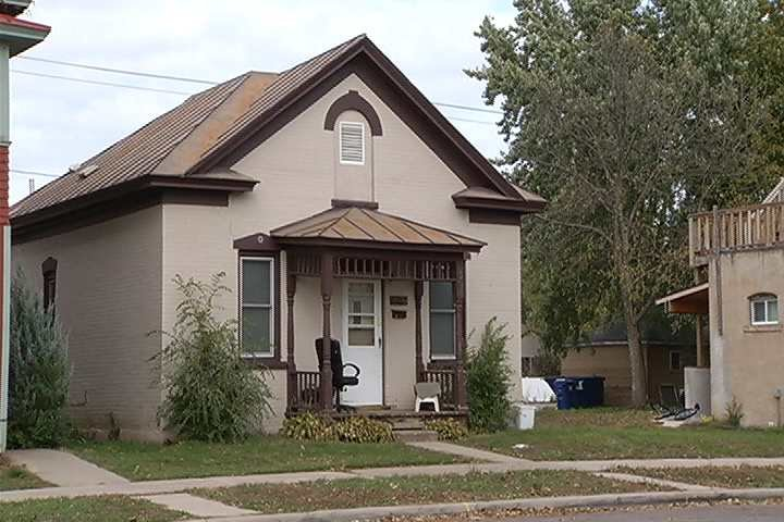 The home at 1309 Redfield Street that police raided on Thursday