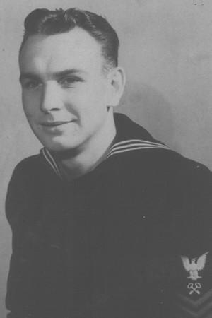 Joe Sweeney in his Navy uniform