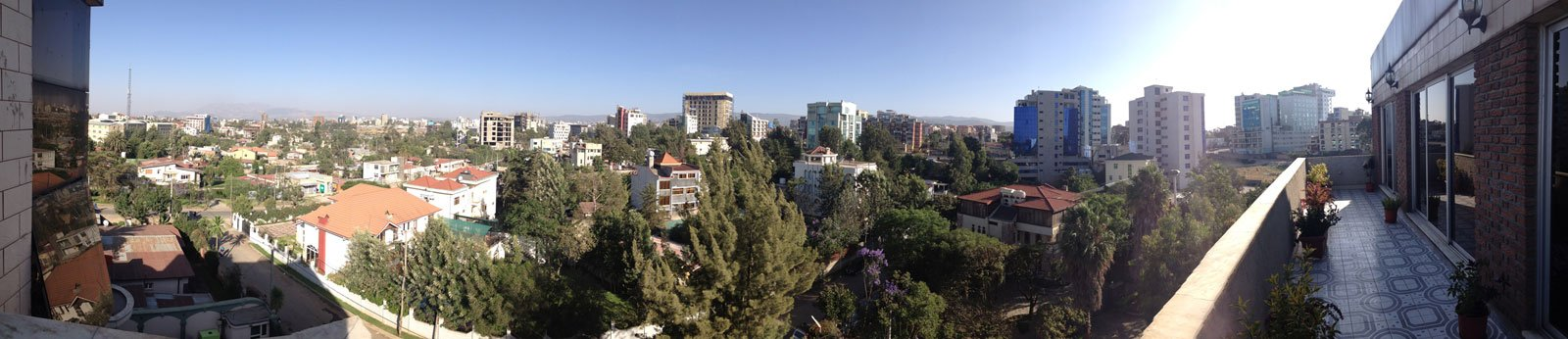 Panoramic view of Addis Ababa from Amy and Mark's hotel.