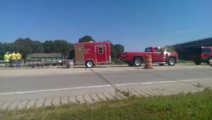 La Crosse County Mass Casualty Unit at scene of I-90 crash