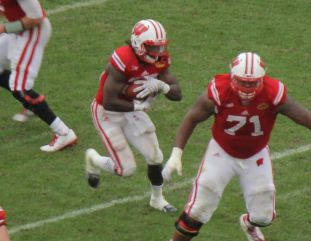 Melvin Gordon on one of his runs during the Outback Bowl January 1, 2015 in Tampa