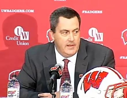Badgers Head Football Coach Paul Chryst