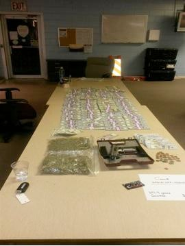 Starke Police photo of items taken in Letroy Guion arrest