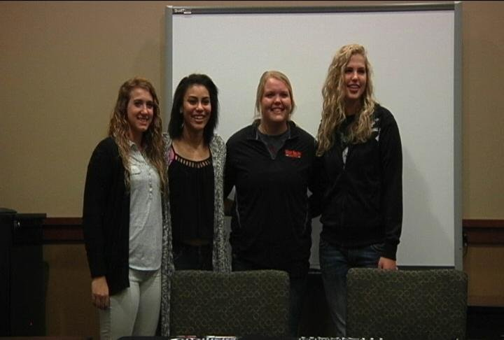 From left: Shayna Halverson, Terra Stutley, Larissa Jacobson, and Clara Horn.