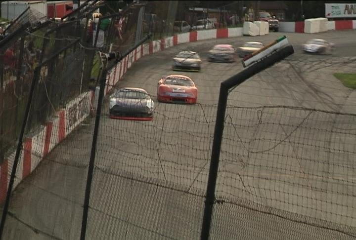 Skylar Holzhausen wins his TUNDRA Super Late Models heat race Friday during the Star Spangled Spectacular at the La Crosse Fairgrounds Speedway. He went on to win the feature race.