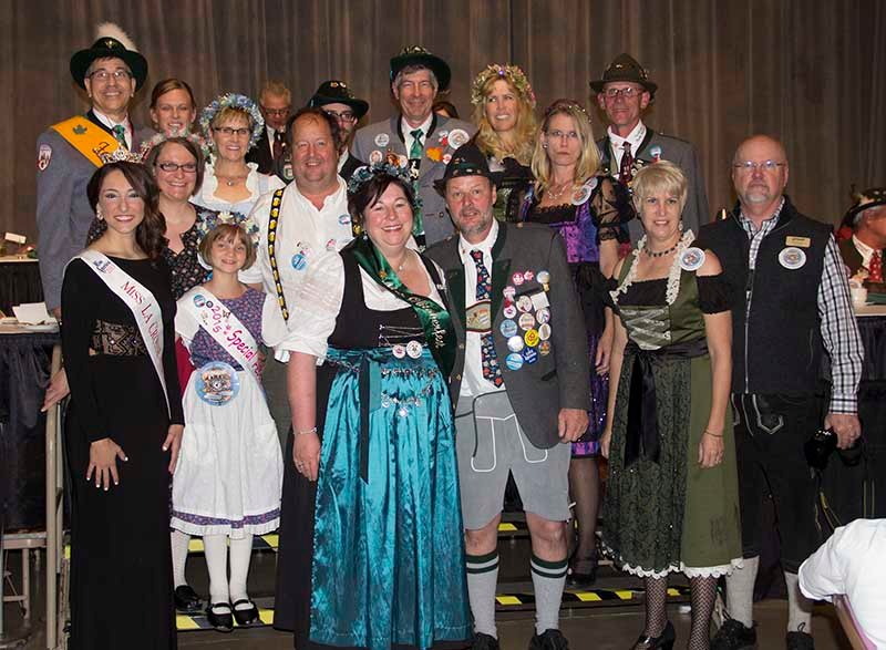 The 2015 Oktoberfest Royal Family poses for a picture at the Festmaster's Ball on October 2, 2015