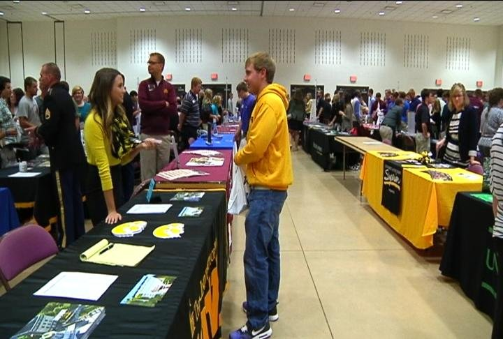 Area Juniors talk with representatives from universities, tech schools, and the military